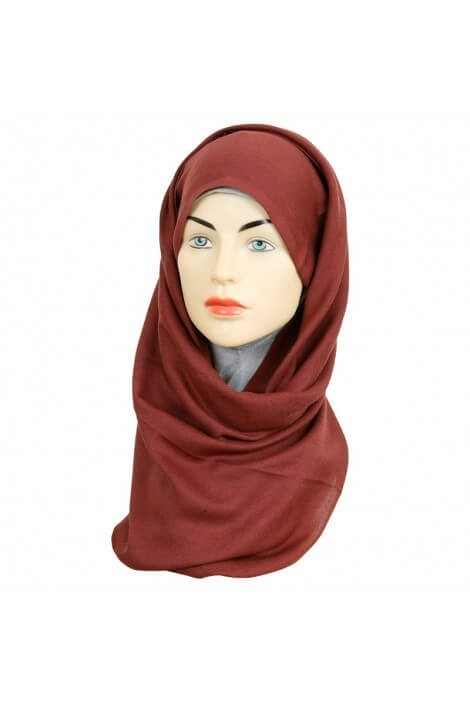 Hijab Pashmina Royal terre sienne