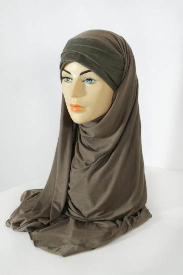 Hijeb Mervé- Prêt à enfiler - kaki pas cher & discount