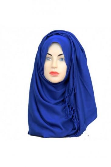 Hijab Pashmina Royal bleu roi pas cher & discount