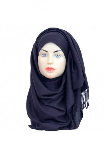 Hijab Pashmina Royal bleu marine pas cher & discount