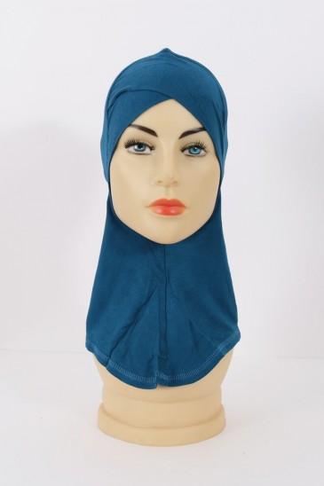 Sous hijab cagoule Bleu marine pas cher & discount