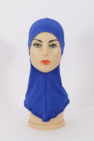 Sous hijab cagoule Bleu roi pas cher & discount