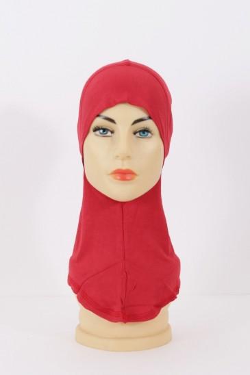 Sous hijab cagoule rouge pas cher & discount