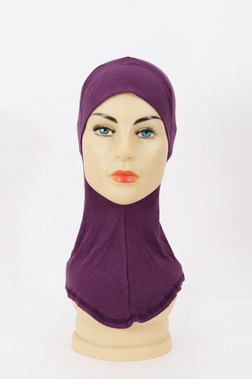 Sous hijab cagoule Violet pas cher & discount