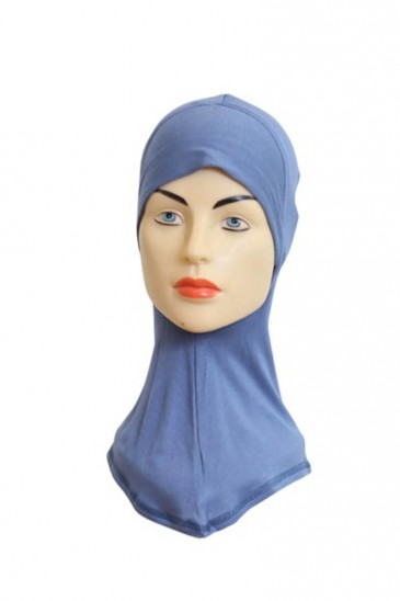 Sous hijab cagoule Bleu Guède pas cher & discount