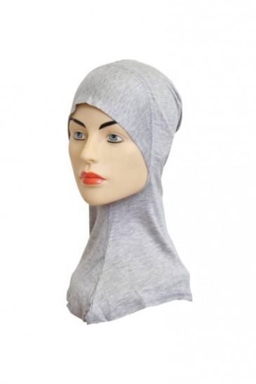 Sous hijab cagoule Gris chiné pas cher & discount