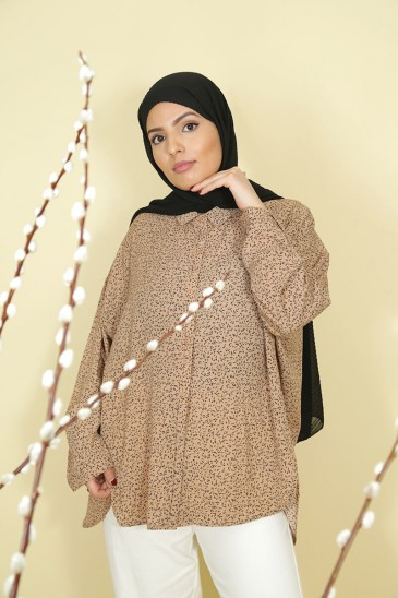 Chemise Solenne Camel pas cher & discount