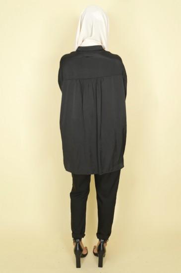 Chemise Anissa Noir pas cher & discount