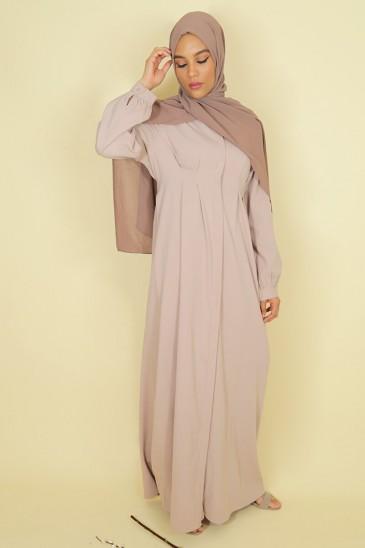 Abaya Robe Jouda Vieux rose pas cher & discount