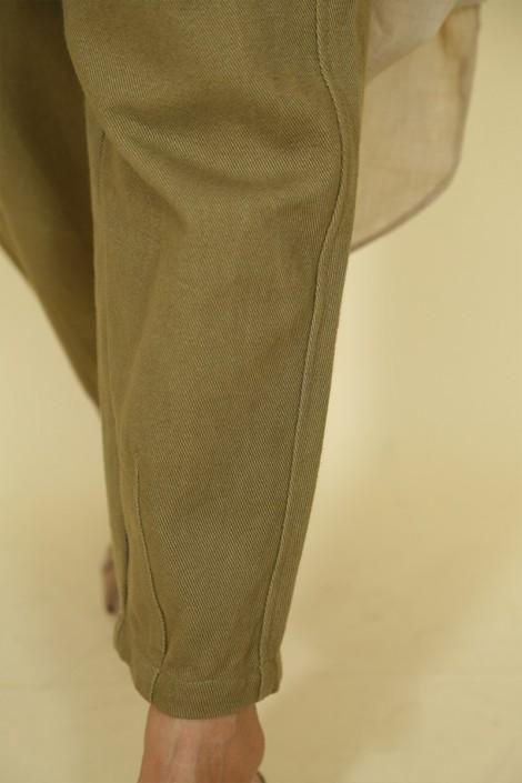Pantalon Nurhan Vert Militaire
