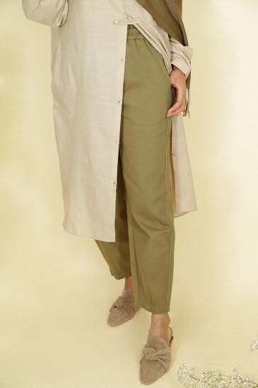 Pantalon Nurhan Vert Militaire pas cher & discount