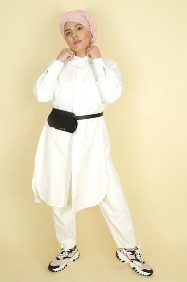 Pantalon Nurhan Blanc pas cher & discount