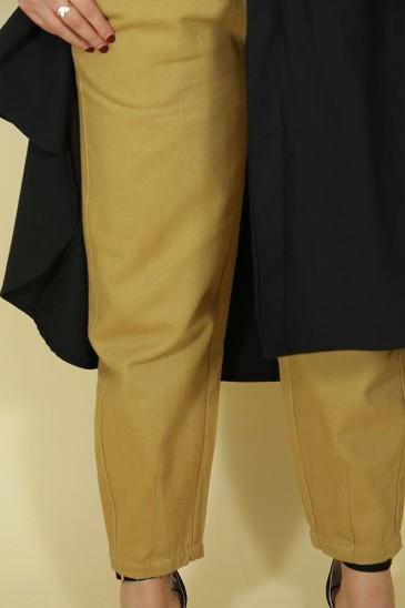 Pantalon Nurhan Camel Clair pas cher & discount