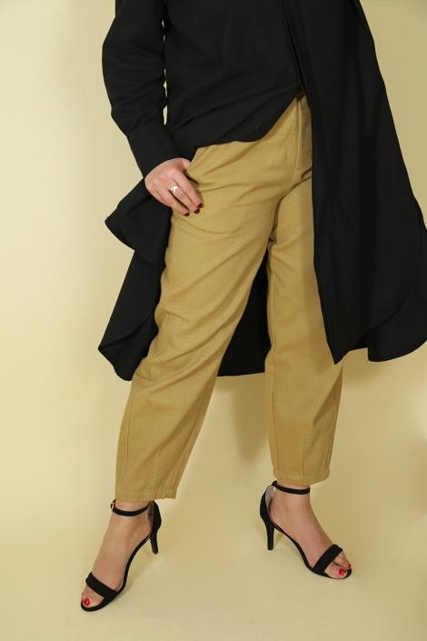 Pantalon Nurhan Camel Clair