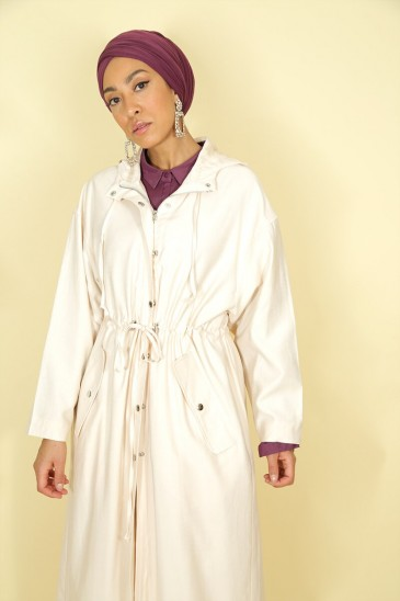 Trench Lamya Creme pas cher & discount