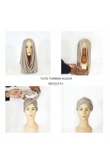 Turban alexia - taupe clair pas cher & discount