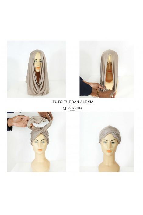 Turban alexia - taupe clair