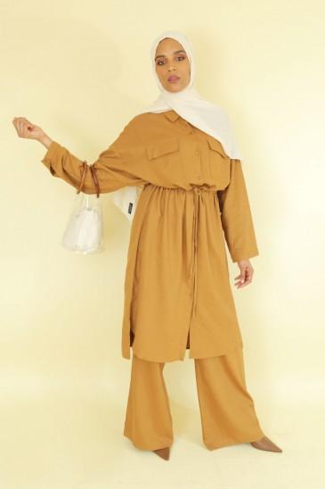 Tunique Sanaa Camel pas cher & discount