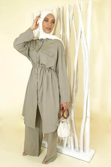Tunique Lin Sanaa Mastic pas cher & discount