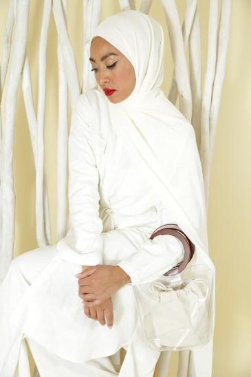 Tunique Sanaa Blanc Cassé pas cher & discount