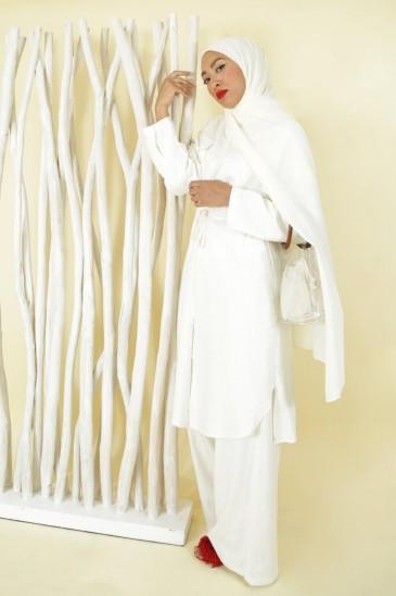 Pantalon Sanaa Blanc Cassé pas cher & discount