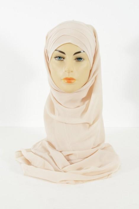 Hijab easy style prêt à enfiler - beige