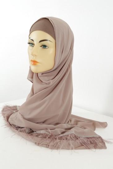 Hijab Aya - Couleur Taupe pas cher & discount