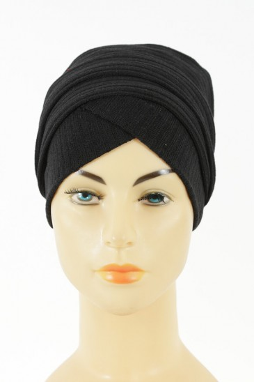 Turban Monika -Noir pas cher & discount