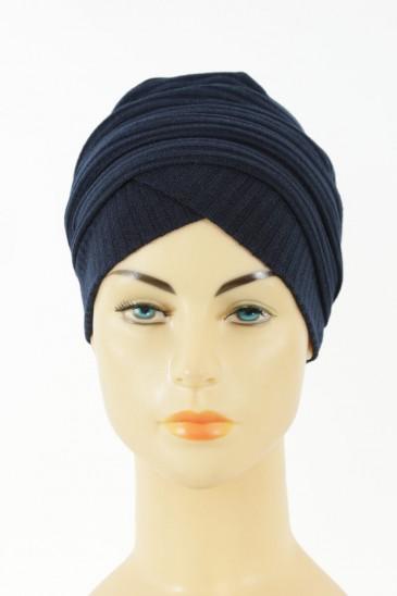 Turban Monika-bleu marine pas cher & discount
