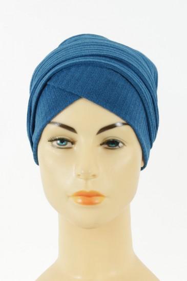 Turban Monika-bleu petrole pas cher & discount
