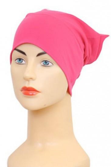 Bonnet tube fushia pas cher & discount