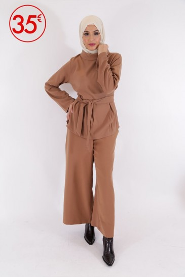 Pantalon Eva Camel pas cher & discount
