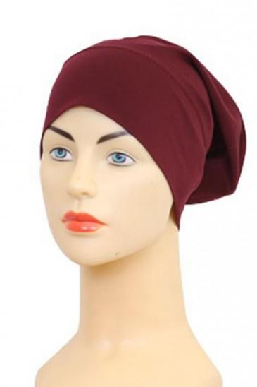 Bonnet tube bordeaux pas cher & discount