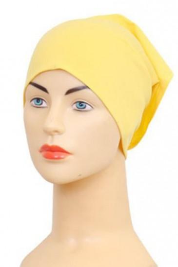 Bonnet tube jaune poussin pas cher & discount