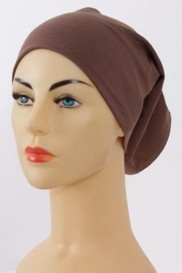 Bonnet tube marron pas cher & discount