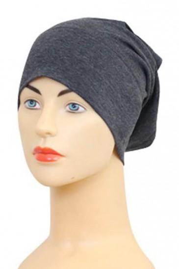Bonnet tube gris foncé pas cher & discount