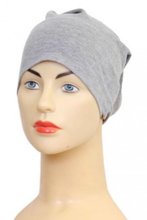 Bonnet tube gris chiné