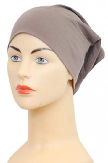 Bonnet tube taupe foncé pas cher & discount