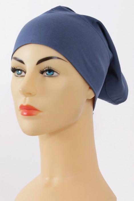 Bonnet tube bleu marine
