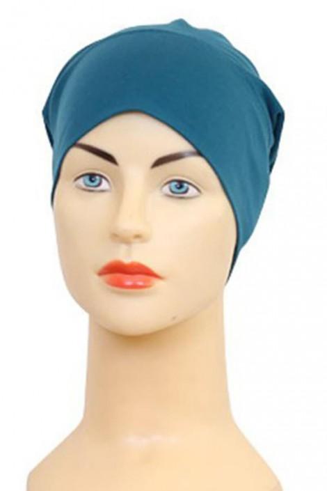 Bonnet tube bleu canard
