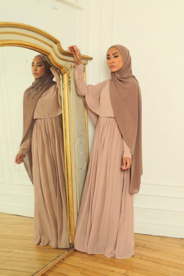 Robe Amarine Taupe pas cher & discount