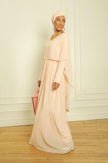 Abaya Robe Amarine Nude pas cher & discount