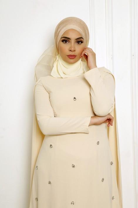 Robe Amjaad Ecru