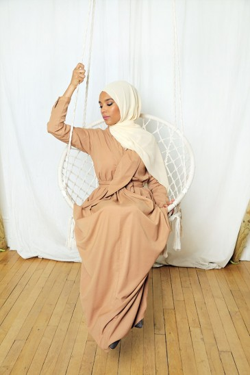 Robe Alya Cannelle pas cher & discount