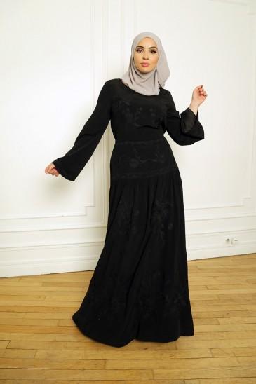 Abaya Robe Candice Noir pas cher & discount