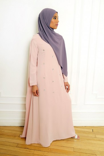 Robe Amjaad rose pas cher & discount