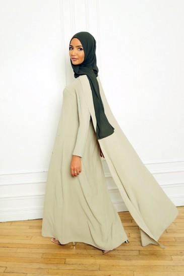 Robe Amjaad Vert Pastel pas cher & discount