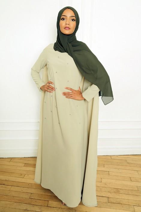 Robe Amjaad Vert Pastel