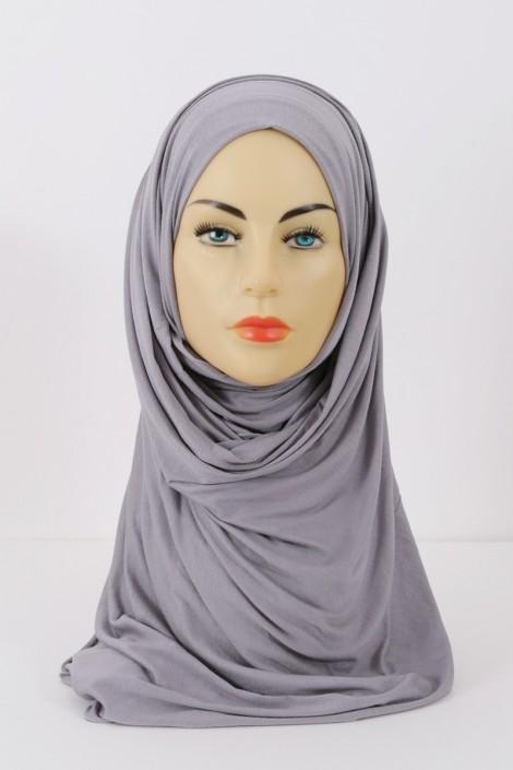 Hijeb maxi stretch gris clair