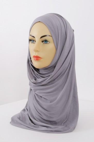 Hijeb maxi stretch gris clair pas cher & discount